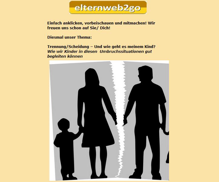 """Onlineseminar zum Thema """"Trennung"""""""