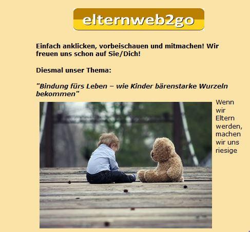 "Online-Seminar zum Thema ""Bindung"""
